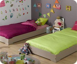 cama al raz del piso para chicos muebles montesori