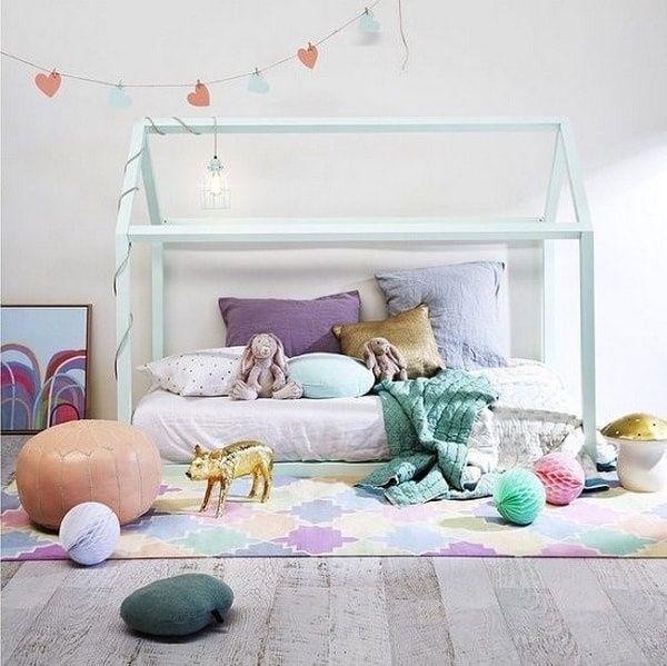 cama al raz del suelo para chicos - muebles montessori