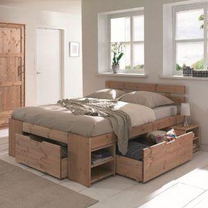 cama matrimonial funcional de pino