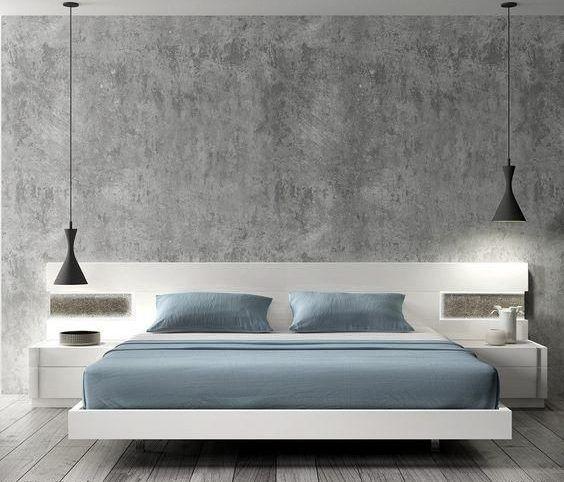 cama matrimonial moderna y minimalista