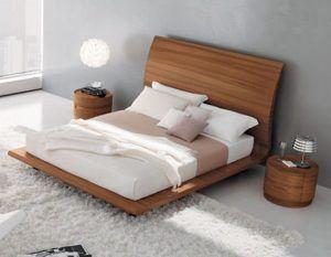 cama moderna de madera