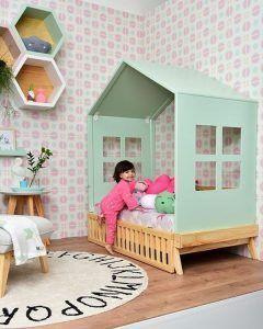 cama para nena en forma de casita Muebles montesori