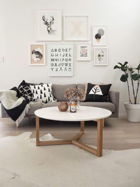 Mesa ratona redonda madera