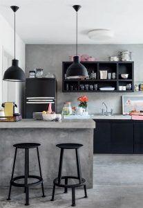 accesorios y muebles negros para cocinas decoracion 2019