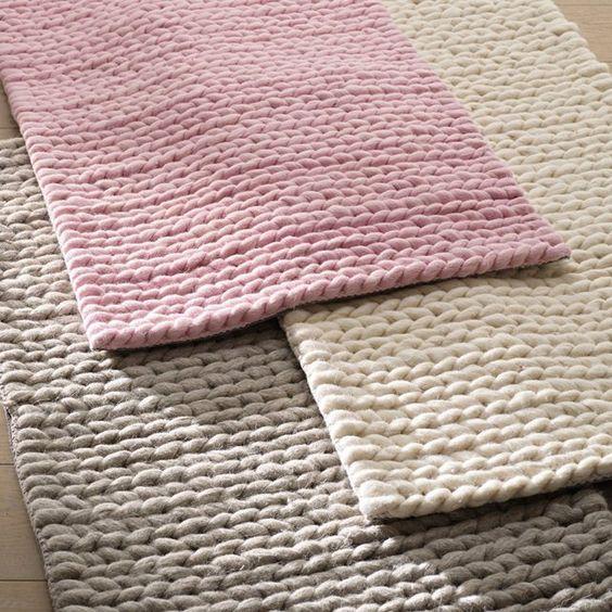 alfombra tejida xxl
