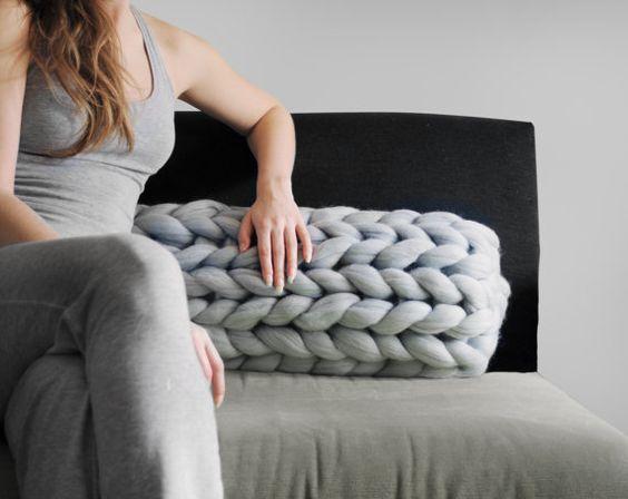 almohadones con tejidos xxl