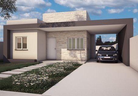 fachadas casas pequeñas una planta moderna