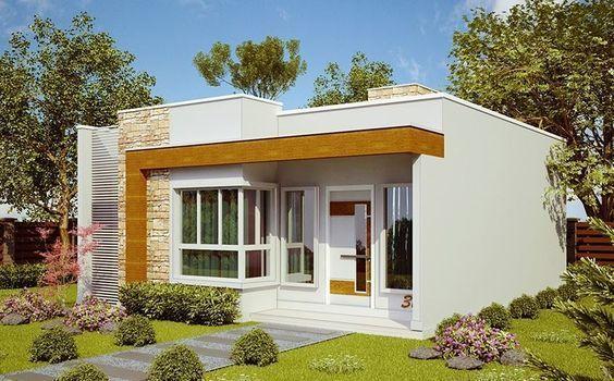 fachadas casas pequeñas una planta