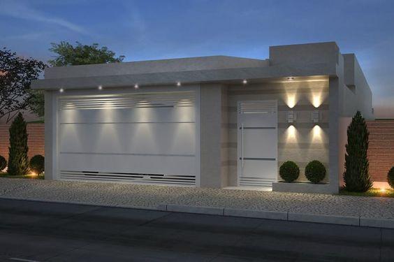 Fachadas de casas peque as casa web for Casa moderna 7x20