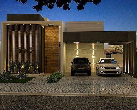 frente de casa pequeña con garage