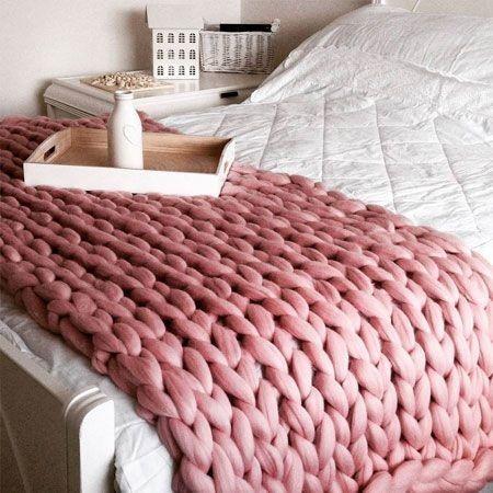 manta para cama con tejido gigante