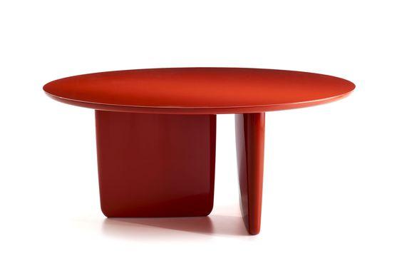 mesa ratona roja de diseño