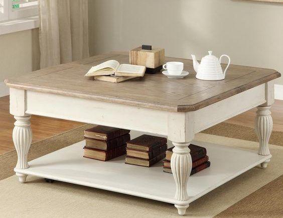 mesa vitnage de madera