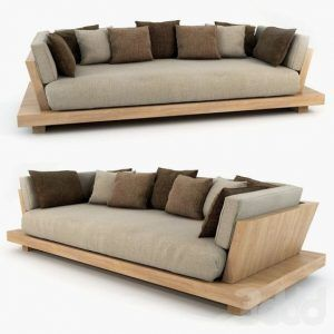 Sofa cama moderno de madera