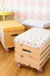 puff rectangulares funcionales para niños