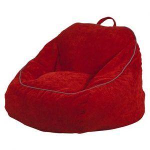 puff rojo de corderoy