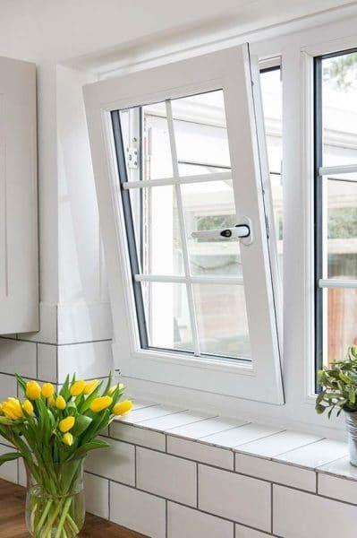 ventana de pvc vidrio partido