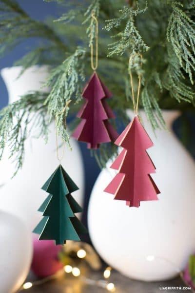 adornos de carton para el arbol de navidad