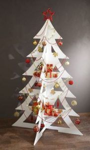 arbol de navidad economico de carton pintado