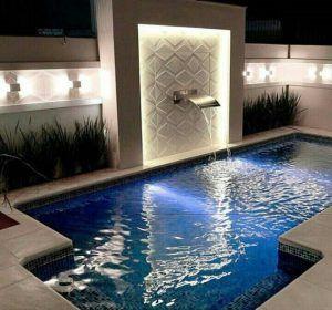 cascada para piscina pequeña
