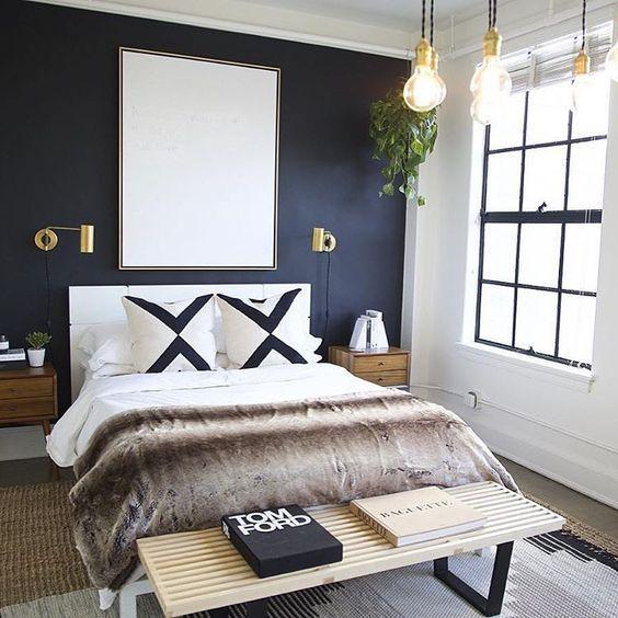 combinar pared oscura y blanco