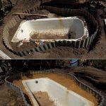 estanque de jardin con bañera reciclada e1542395722644