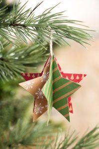 estrella de papel para arbol de navidad