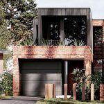 fachada de casa de hierro y ladrillo
