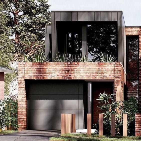 Casas con fachada de ladrillo visto casa web - Ladrillo visto rustico ...