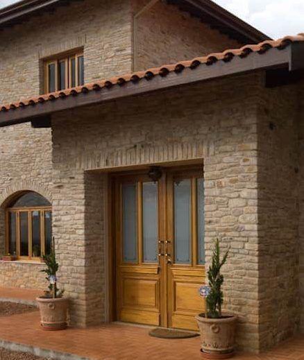 Casas de ladrillo rustico trendy awesome affordable fachada de ladrillo visto with casas de - Ladrillo visto rustico ...