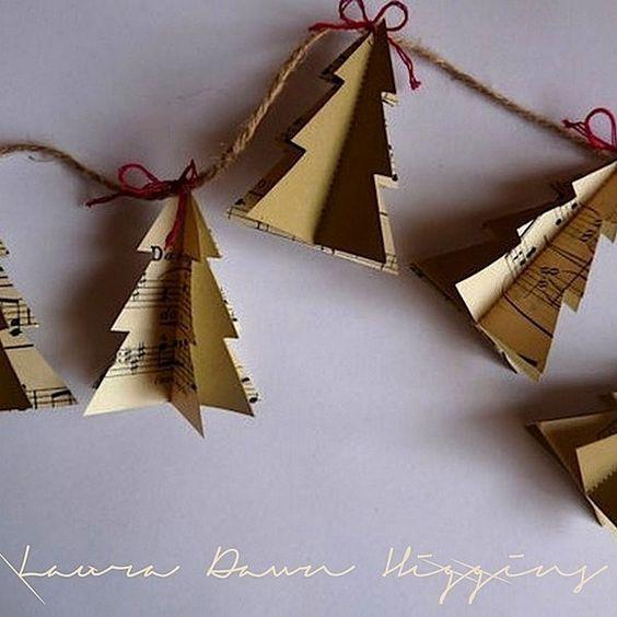 guirnalda con pinos para navidad