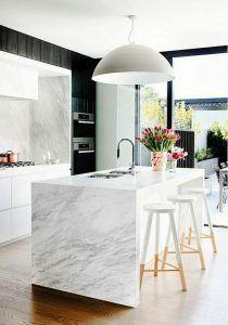 isla para cocina moderna de marmol