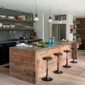 isla para cocina moderna rustica