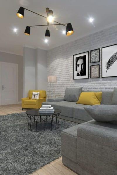 paredes modernas colores neutros muebles de color