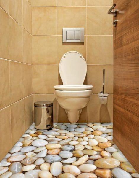 piso de piedra dibujado con procelanato liquido 3d