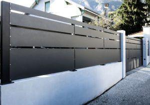 puerta garaje moderna de hierro