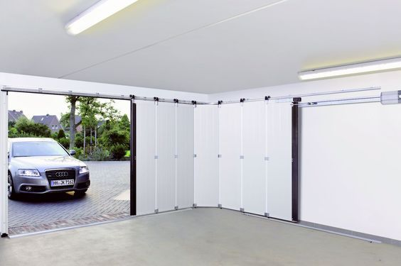 puerta garaje moderna de pvc corredera