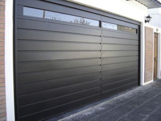 puerta garajeseccional de aluminio