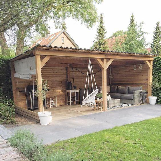 quincho rustico madera peque o casa web On pequeno cobertizo de jardin de madera