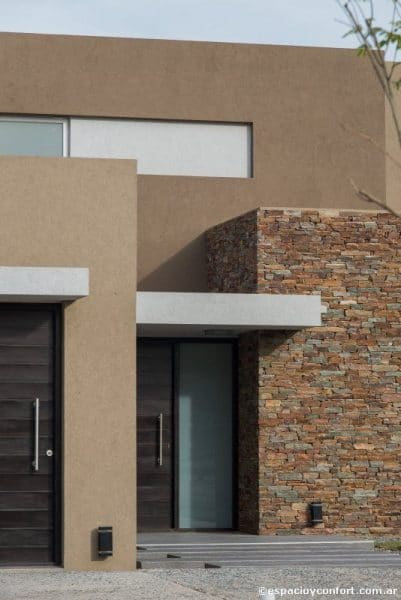 Revestimiento Fachada Exterior De Piedra Y Texturado Casa Web