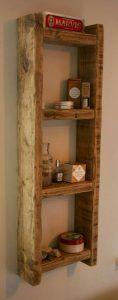 estanteria para baño de madera rustica moderna