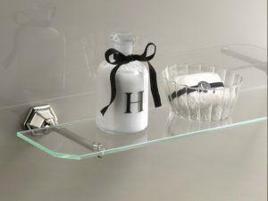 estanteria para baño de vidrio