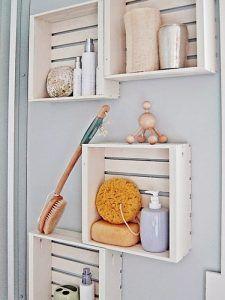 estanterias para baño con cajones reciclados