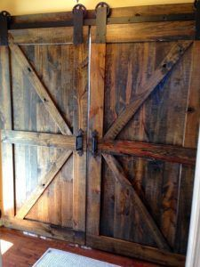 puerta estilo granero
