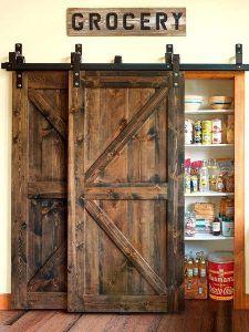 puerta granero para despensa