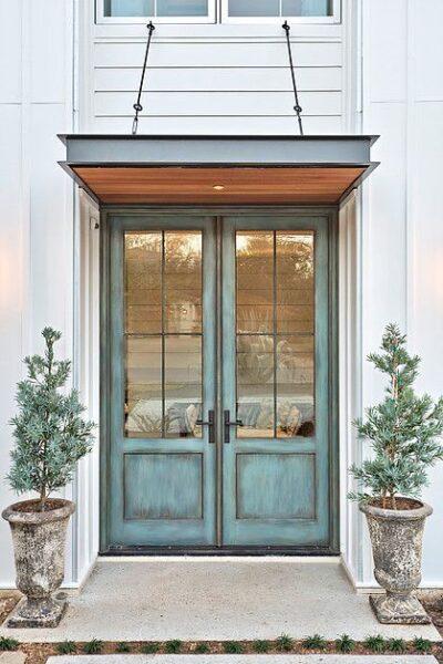 Puerta de entrada para casa antigua vintage Aberturas