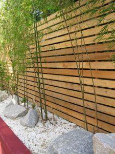 Cerca de madera horizontal moderna