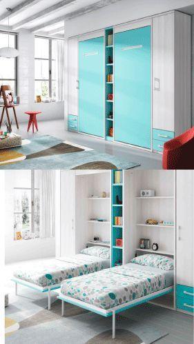 Muebles Inteligentes y funcionales dormitorio de noche sala de juegos de dia
