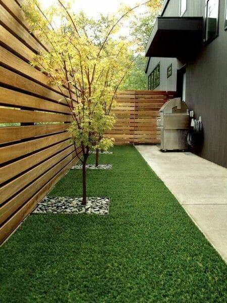 cerca de madera con estilo moderno