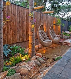 cercas de bambu para jardin